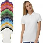 New B&C Womens Ladies Casual Work Polo Shirt Plain Cotton Top 20 Colours XS-3XL