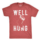 Mens Well Hung Tshirt Funny Christmas Stocking Tee