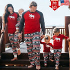 Deer Christmas Xmas Kids Adult Man Woman Family Pajamas Set Sleepwear Nightwear