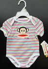 New SMALL PAUL BY PAUL FRANK Infant New Born Julius Striped Cotton One-Piece NWT
