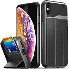 For iPhone XS Max Vena【vCommute】Leather Wallet Card Slot Stand Case Cover Holder