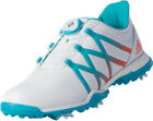New Adidas Adipower Boost BOA Womens Golf Shoes - White/Blue/Coral