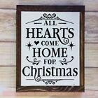 Hearts Home For Christmas Wall Quotes Vinyl Letter Christmas Winter Decor Decals