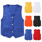 Kids Boy Vest Waistcoat Button Down Formal Gentleman Tuxedo Formal Party Wedding