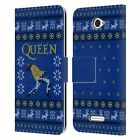 OFFICIAL QUEEN CHRISTMAS LEATHER BOOK WALLET CASE COVER FOR SONY PHONES 2