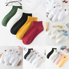 US 5 Pairs Women Cotton Loafer Boat Invisible Ankle No Show Low Cut Liner Socks