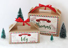 PERSONALISED Christmas Eve Gift Box Brown Xmas Present Party Favour