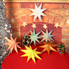 Christmas Star Paper Lampshade Hanging Lanter Bar Home Party Ornaments Decor USA