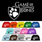 From Game of Thrones to Game of Bones Screen Print Cotton Dog T-Shirt Clothes