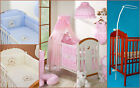 LUXURY 7 pcs BABY BEDDING SET TO FIT BABY COT or COTBED BUMPER CANOPY HOLDER  image