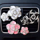 2x Car Perfume Colorful Flowers Bling Diamond Car Air Freshener Clip Decorations