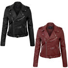 KOGMO Women's Double Breasted Synthetic Leather Zip Up  Jacket with Belt $30.99 USD on eBay