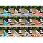 Fade Resistant Outdoor Knit Tassel Throw Blanket, Breathe-ale, Assorted Colors image