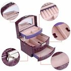 Leather Jewelry Boxes And Packaging Leather Makeup Organizer Storage Box