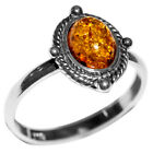 2.02g Authentic Baltic Amber 925 Sterling Silver Ring Jewelry N-A7081