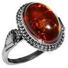 3.75g Authentic Baltic Amber 925 Sterling Silver Ring Jewelry N-A7004