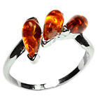2.7g Authentic Baltic Amber 925 Sterling Silver Ring Jewelry N-A7299