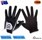 Men's Golf Gloves Rain Grip Right Hand Left Hand Black Grey Wet Weather 1Pair AU