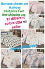 NEW BED SHEET SET 6 PIECES 1800 SERIES ALL SEASON COLORS GREAT PRICE PILLOW CASE image