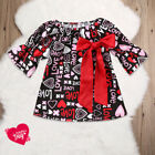 Valentines Day Baby Girls Love Dress Princess Party Dress Outfit Toddler 0-5T