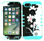 For Apple iPhone 7 - KoolKase Hybrid ShockProof Silicone Cover Case- Flower 72