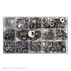 800 Assorted Metric A2 Stainless Steel Flat & spring Washers M3 M4 M5 M6 M8 M10