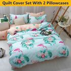 Flamingo Duvet Quilt Cover Set Ultra Soft Comforter Bedding Set Twin Queen Size image