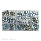 322 Standard Metric Assorted Zinc Plated Steel Hexagon Full Nuts and Nyloc Nuts