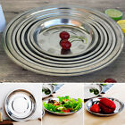 Stainless Steel Tableware Dinner Plate Food Container Camping Kitchen Supplies