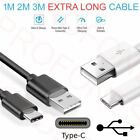 Type C / USB-C Data Sync Charger Cable Extra Long 1M 2M 3M For Sony