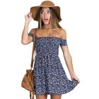 New Womens Beach Summer Sundress Floral Printed Party Casual Mini Midi Dresses