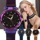 Ladies Watch Starry Sky Diamond Dial Women Bracelet Watches Magnetic Stainless N image