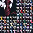 Kyпить USA 189 Colors Mens Silk Tie Necktie Set Red Blue Black Grey Green Pink Wedding на еВаy.соm