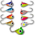 Внешний вид - 5 Pack Tungsten UV Glow Ice Fishing Jigs Crappie Perch Bluegill Trout Panfish