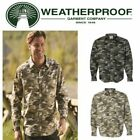 Weatherproof Vintage Camo 100% Cotton Poplin Long Sleeve Shirt Hunting S-3XL