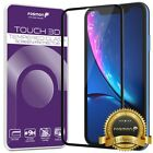 Fosmon Full Coverage Tempered Glass Screen Protector for Apple iPhone XS Max XR