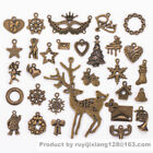 Many 70/125 Style Antique Vintage Old Look Bronze Skeleton Charm Pendant Jewelry