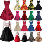 Kyпить Damen Rockabilly Retro Swing Petticoat Hepburn Partykleider Cocktailkleid Dress на еВаy.соm