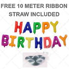 """16"""" HAPPY BIRTHDAY Self Inflating Foil Balloons Banner Party Decor uk seller"""