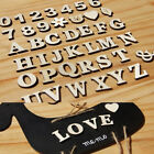 1Set English Letters Numbers Wooden Wedding Party Home Paste Decor Crafts D LD