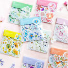 45Pcs Kawaii Journal Diary Decor Flower Stickers Scrapbooking Stationery Sup  AL