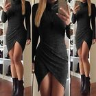 Fashion Women Knitted Long Sleeve Sweater Office Bodycon Sexy Club Party Dress
