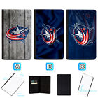 Columbus Blue Jackets Leather Passport Holder Cover Wallet ID Cards Document $4.99 USD on eBay
