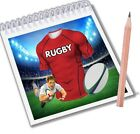 Rugby Notepads Party Bag Fillers Boys Girls Scarlets Team Colours