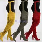 Women's 2019 Over The Knee Pointed Belt Thigh High Boots High Heels Long Boots