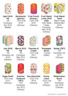 Summer Brights designs ~ Jamberry nail wraps ~ HALF sheets ~ revised 6/1