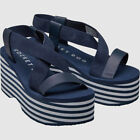 Ladies Branded Rocket Dog Printed Logo Strap Platform Sandals Footwear Size 3-8