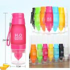 6500ml Sports Camp Health Fruit Infusing Infuser Water Bottle Lemon Juice Make