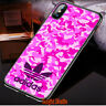 HOT_9NIKE2019ADIDS7 PINK For iPhone X XR XS MAX Samsung Galaxy S10+ Case PRINT