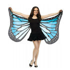 Ladies Soft Fabric Butterfly Wings Fairy Ladies Nymph Pixie Costume Accessory AB